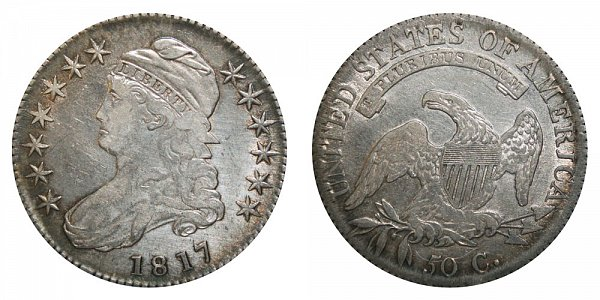 1817 Capped Bust Half Dollar Varieties - Differences and Comparison