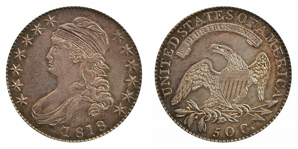 1818 Capped Bust Half Dollar Varieties - Difference and Comparison