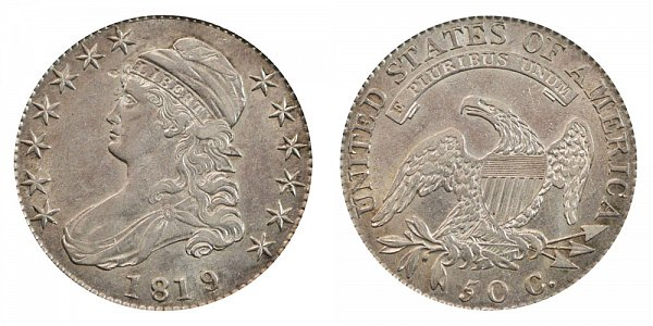 1819/8 Capped Bust Half Dollar - Small 9