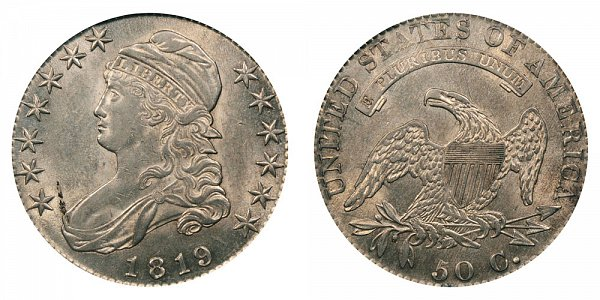1819 Capped Bust Half Dollar Varieties - Differences and Comparison