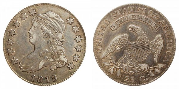 1819 Capped Bust Quarter - Small 9
