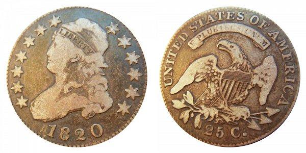 1820 Capped Bust Quarter - Large 0