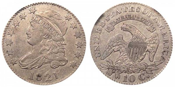 1821 Large Date Capped Bust Dime