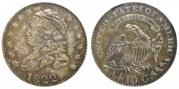 1822 Capped Bust Dime