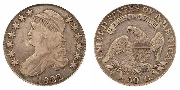 1822 Capped Bust Half Dollar Varieties - Difference and Comparison