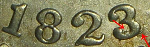 1823/2 3 Over 2 Capped Bust Dime Overdate Error