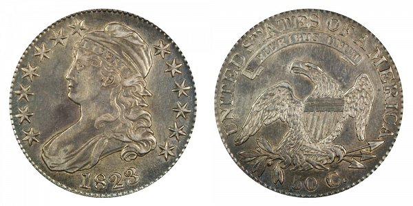 1823 Capped Bust Half Dollar Varieties - Difference and Comparison