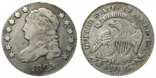 1825 Capped Bust Dime