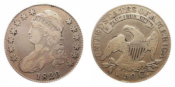 1829 Capped Bust Half Dollar - Large Letters
