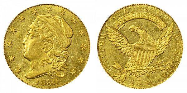 1830 Capped Bust $2.50 Gold Quarter Eagle - 2 1/2 Dollars