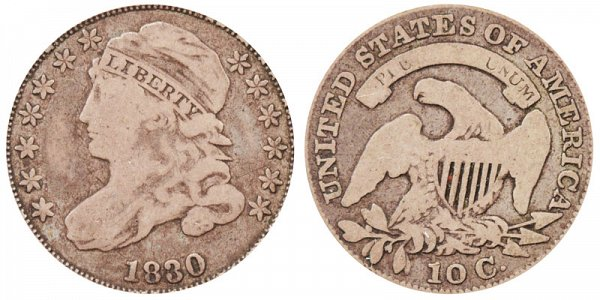 1830 Small 10C Capped Bust Dime