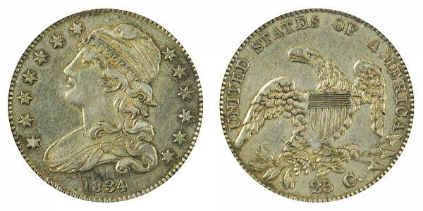 1834 Capped Bust Quarter