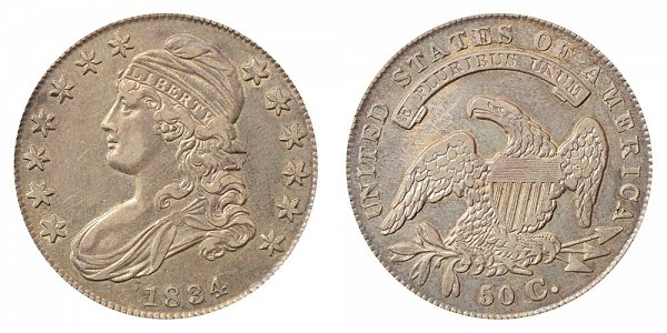 1834 Capped Bust Half Dollar - Small Date - Small Letters - Large Stars
