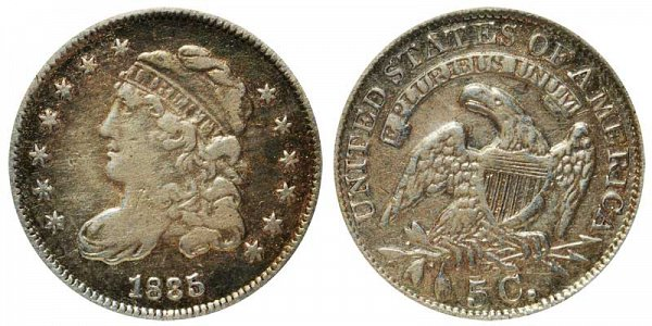 1835 Capped Bust Half Dime - Small Date Large 5C