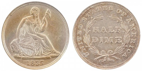 1837 Small Date Seated Liberty Half Dime
