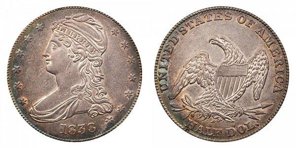 1838 Capped Bust Half Dollar - HALF DOL. On Reverse