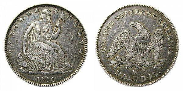 1840 O Seated Liberty Half Dollar