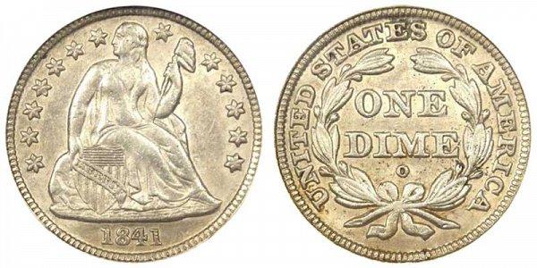 1841 O Seated Liberty Dime
