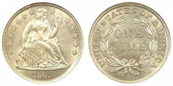 1841 Seated Liberty Dime