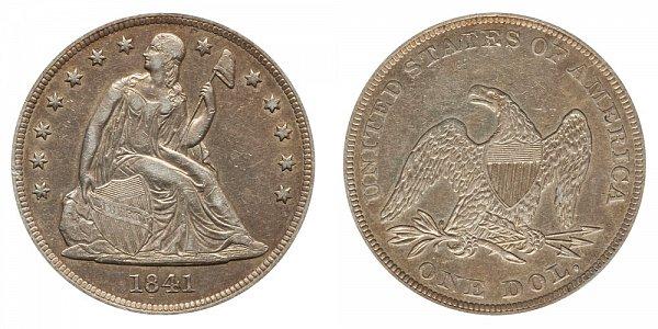 1841 Seated Liberty Silver Dollar