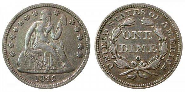 1842 O Seated Liberty Dime