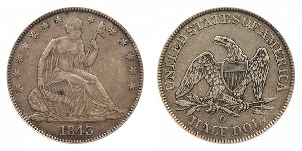 1843 O Seated Liberty Half Dollar