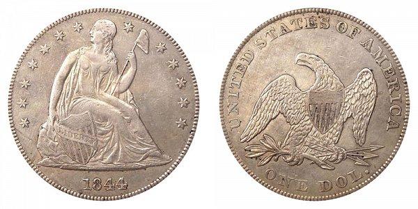 1844 Seated Liberty Silver Dollar