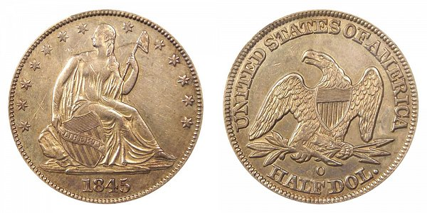 1845 O Seated Liberty Half Dollar