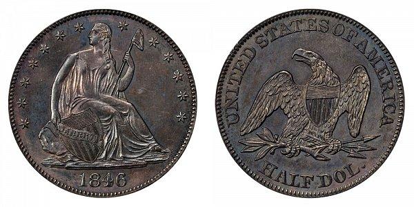 1846 Seated Liberty Half Dollar - Medium Date