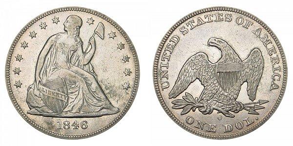1846 O Seated Liberty Silver Dollar