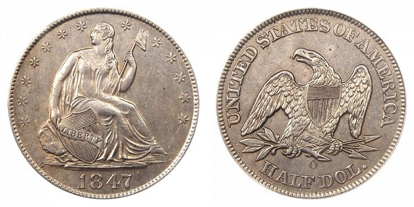 1847 O Seated Liberty Half Dollar