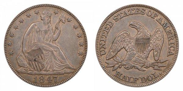 1847 Seated Liberty Half Dollar