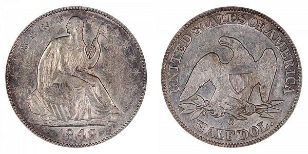 1848 O Seated Liberty Half Dollar