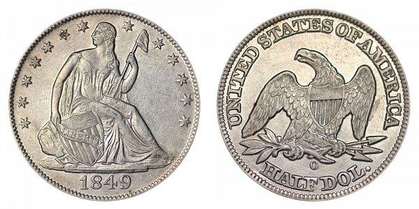 1849 O Seated Liberty Half Dollar
