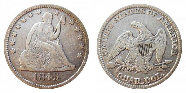 1849 Seated Liberty Quarter