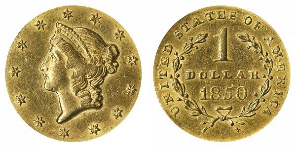 1850 Liberty Head Gold Dollar G$1