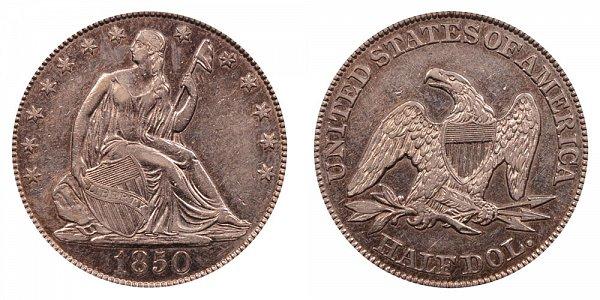 1850 Seated Liberty Half Dollar