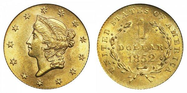 1852 Liberty Head Gold Dollar G$1