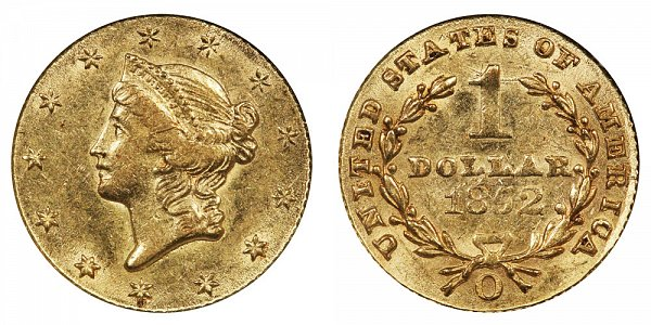 1852 O Liberty Head Gold Dollar G$1