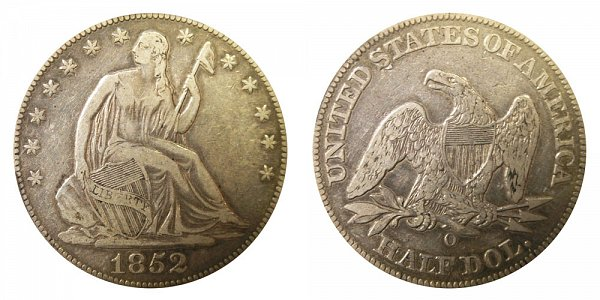 1852 O Seated Liberty Half Dollar