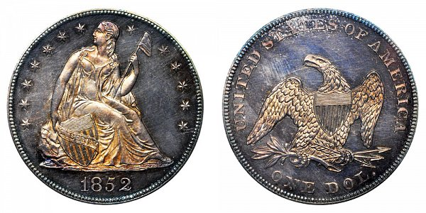 1852 Seated Liberty Silver Dollar - Original Strike