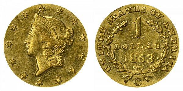 1853 C Liberty Head Gold Dollar G$1