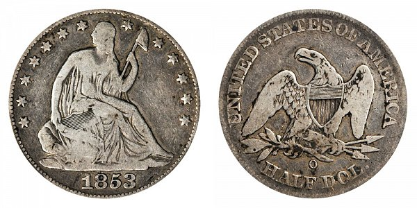 1853 O Seated Liberty Half Dollar - No Arrows No Rays