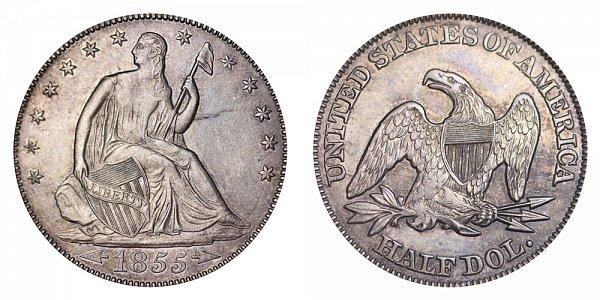 1855 Seated Liberty Half Dollar