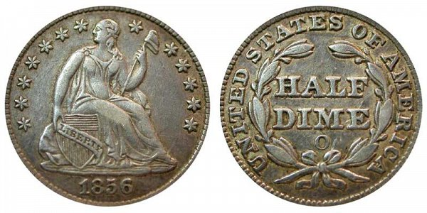 1856 O Seated Liberty Half Dime