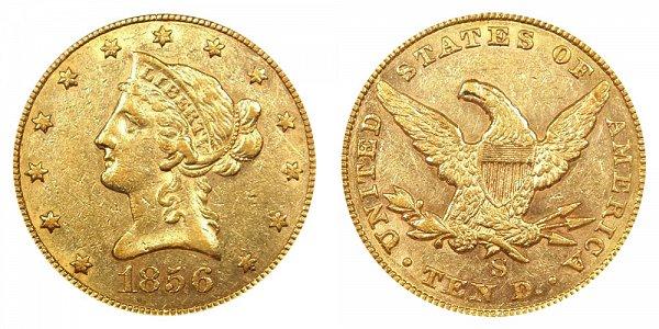1856 S Liberty Head $10 Gold Eagle - Ten Dollars