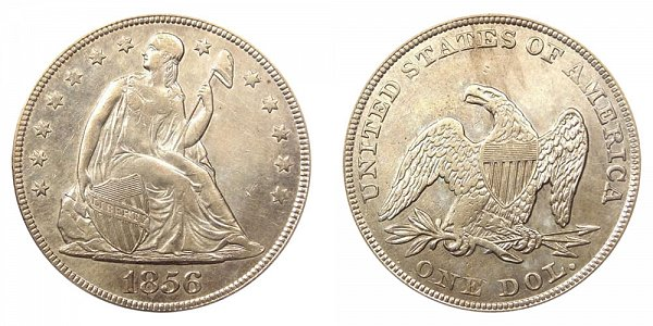 1856 Seated Liberty Silver Dollar