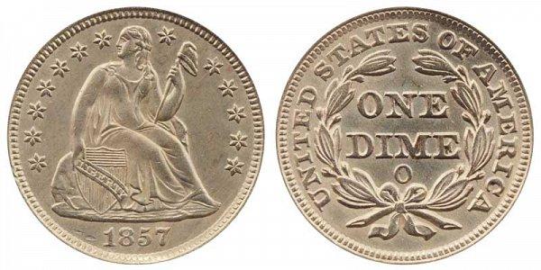 1857 O Seated Liberty Dime