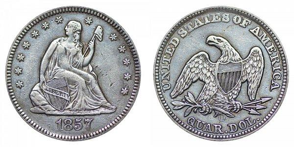 1857 O Seated Liberty Quarter