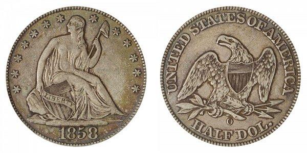 1858 O Seated Liberty Half Dollar